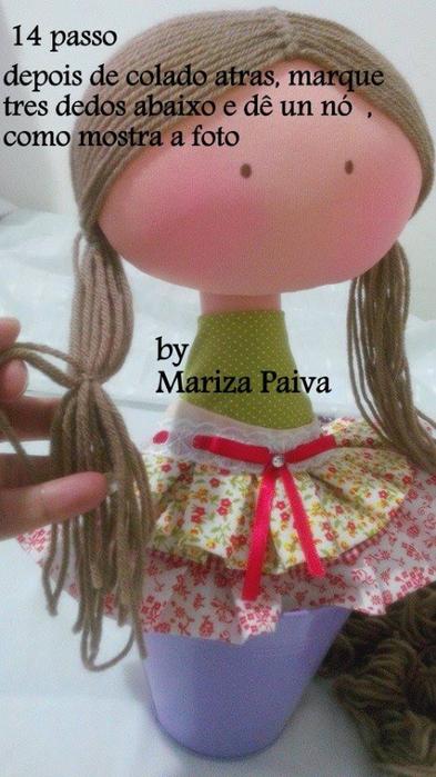 Красивая прическа с кудряшками для куклы. Мастер-класс (44) (393x700, 316Kb)