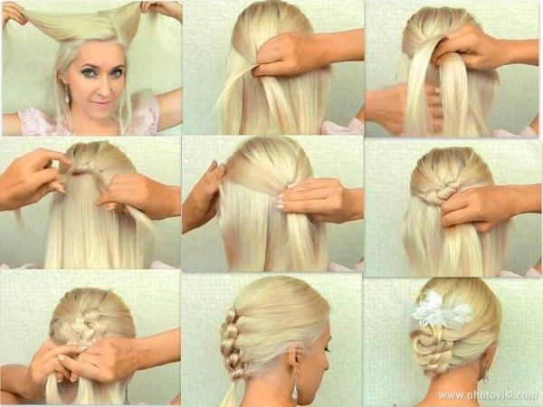 Красивые причёски для средних волос своими руками для девочек
