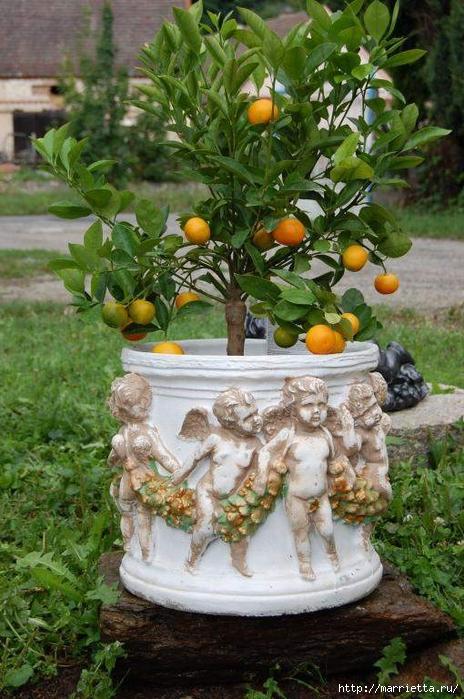 Варианты декорирования цветочных горшков (16) (464x700, 304Kb)