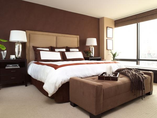 Дизайн гостиной в шоколадно бежевых тонах