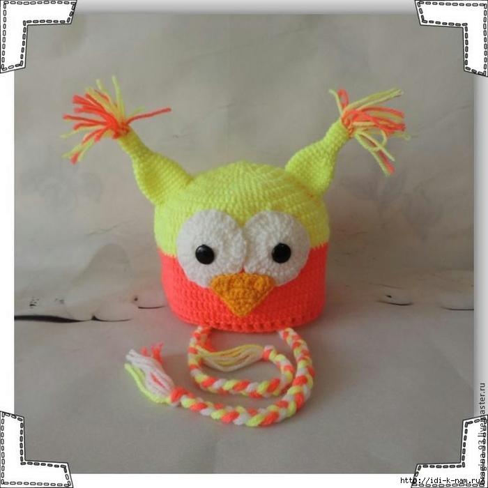 как связать шапочку сову, схема вязания шапочки совы, мастер класс по вязанию шапочки совы, Хьюго Пьюго рукоделие,