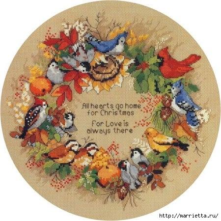 Вышивка крестом. Осенние птицы (450x450, 160Kb)