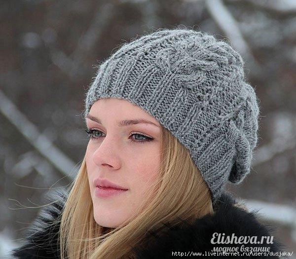 Женские шапки вязаные вязание