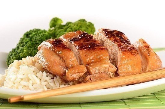 Курочка на японский манер с соевым соусом и медом (549x364, 50Kb)