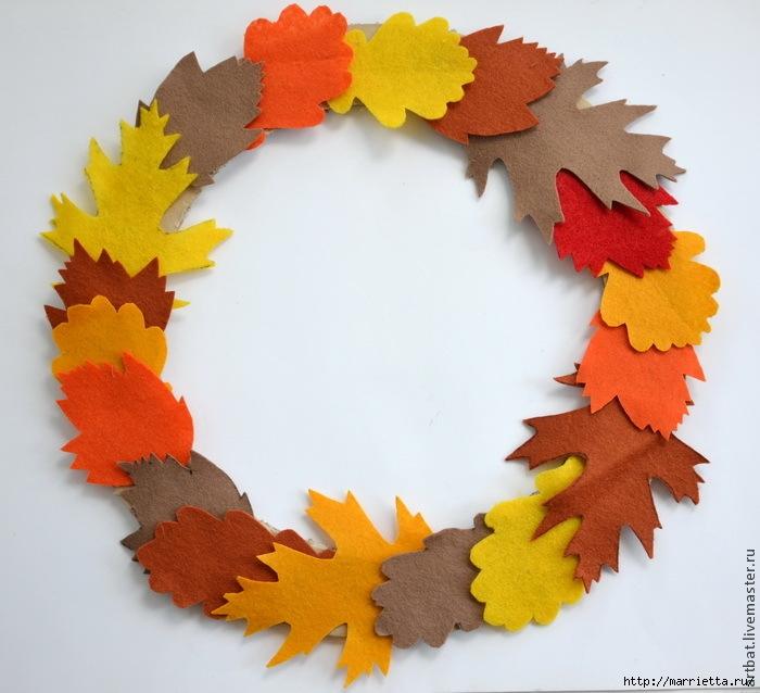 Осенний венок из фетровых листьев. Мастер-класс (4) (700x638, 220Kb)