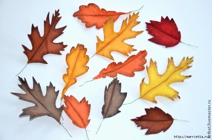 Осенний венок из фетровых листьев. Мастер-класс (8) (700x464, 189Kb)