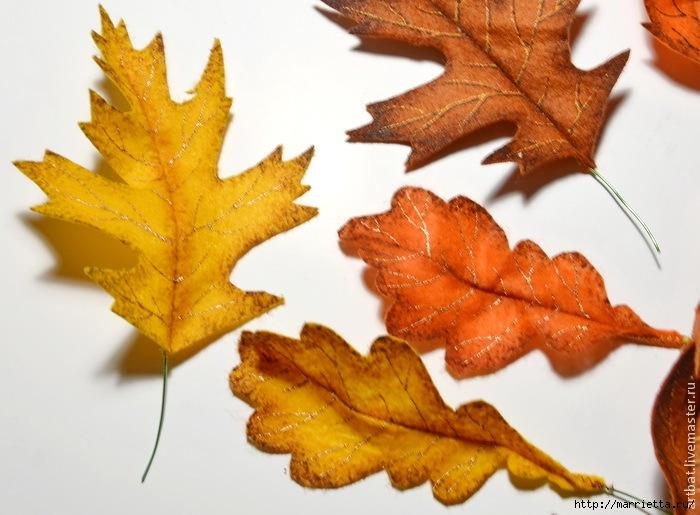 Осенний венок из фетровых листьев. Мастер-класс (10) (700x515, 218Kb)