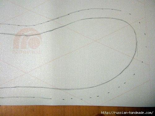 Как сшить теплые мягкие спа-тапочки из полотенца (3) (500x375, 136Kb)