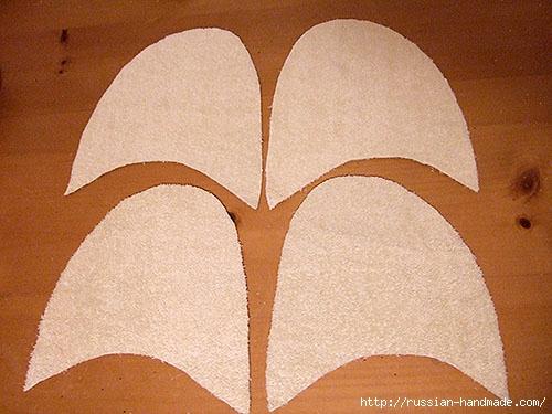 Как сшить теплые мягкие спа-тапочки из полотенца (11) (500x375, 150Kb)