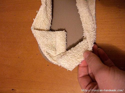 Как сшить теплые мягкие спа-тапочки из полотенца (17) (500x375, 148Kb)