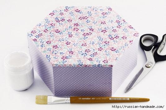 Декорировние коробочки тканью узором в технике оригами (6) (533x355, 119Kb)