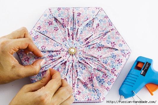 Декорировние коробочки тканью узором в технике оригами (9) (533x355, 150Kb)