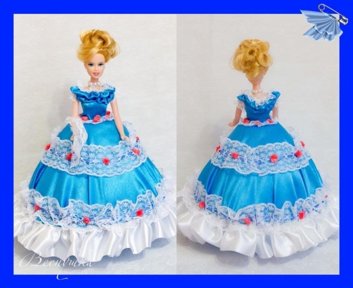 Платье для куклы шкатулки