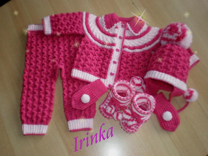 Образец вязаний для детских вещей