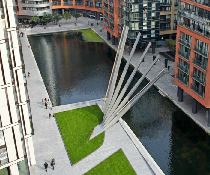 мост в форме веера в Паддингтоне лондон 1 (700x581, 308Kb)