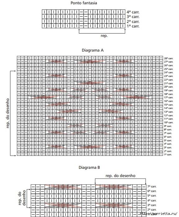 Вязание спицами. Пуловеры с косами (3) (576x700, 327Kb)