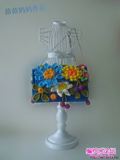 Вязание крючком. Сумочки с цветами. Идеи (1) (500x667, 121Kb)