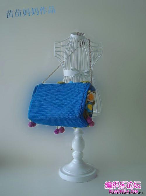 Вязание крючком. Сумочки с цветами. Идеи (3) (500x667, 114Kb)