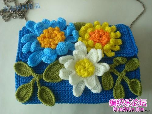 Вязание крючком. Сумочки с цветами. Идеи (20) (500x375, 138Kb)