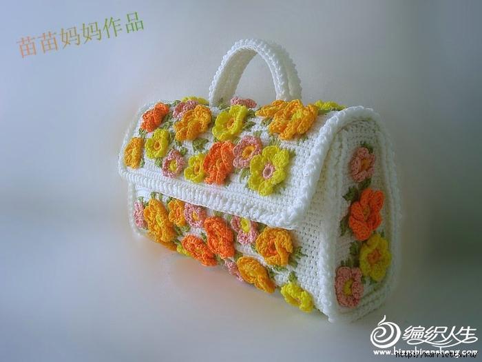 Вязание крючком. Сумочки с цветами. Идеи (24) (700x525, 200Kb)