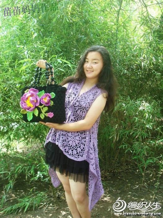 Вязание крючком. Сумочки с цветами. Идеи (27) (525x700, 424Kb)