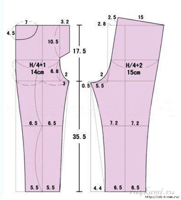 Как сшить брюки девочке в школу 17