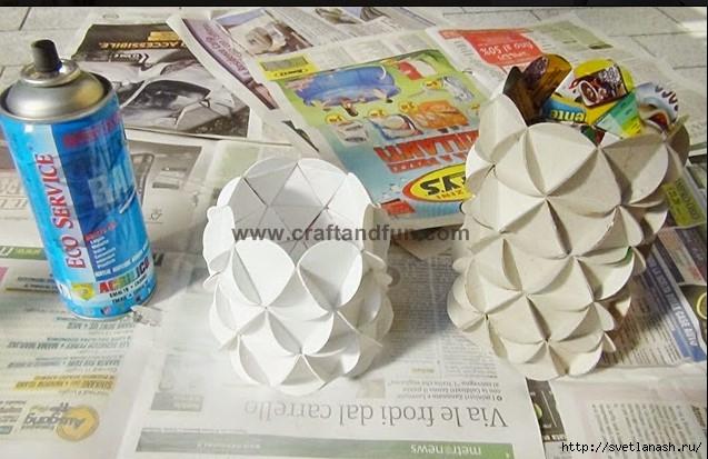 Как сделать вазу из картона детский