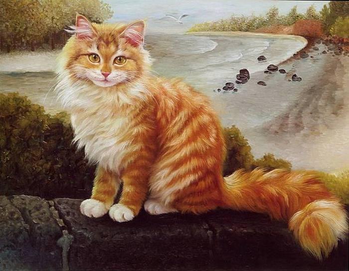 Рыжая кошка Осень.