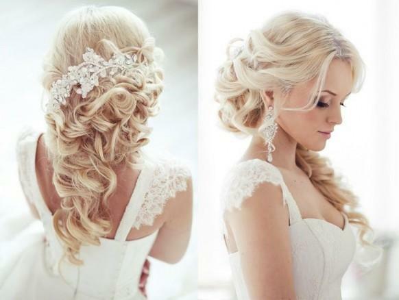 Красивые свадебные прически - много фото0 (582x438, 87Kb)