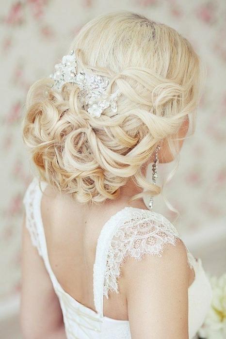 Красивые свадебные прически - много фото19 (466x700, 211Kb)