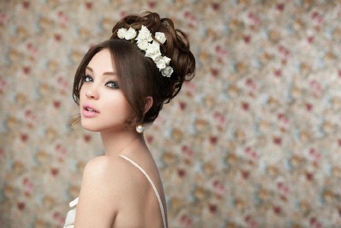 Красивые свадебные прически - много фото23 (700x467, 200Kb)