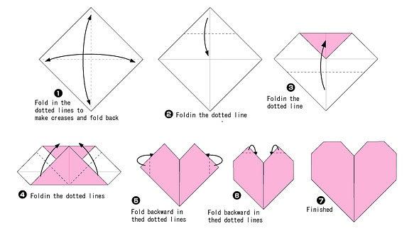 Оригами сердце лёгкие