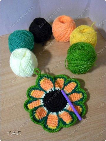 смотреть вязаные прихватки, как связать прихватку, схема вязания прихватки в виде цветочка, прихватка цветочек как связать,