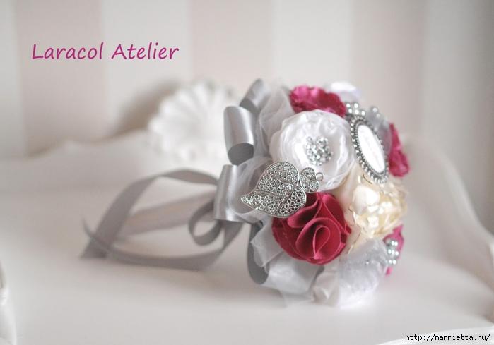 Текстильные свадебные букеты. Красивые идеи (30) (700x489, 164Kb)