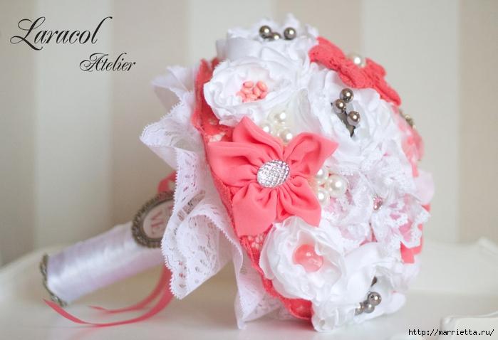 Текстильные свадебные букеты. Красивые идеи (52) (700x478, 200Kb)