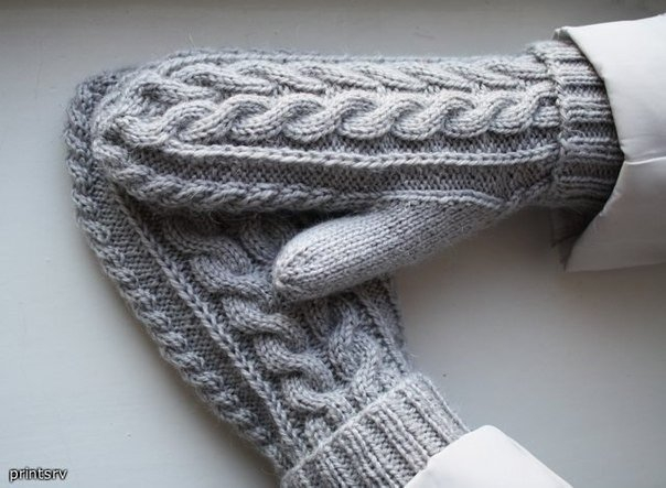 Вязание: варежки