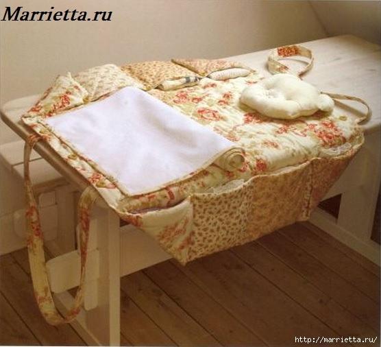 Пеленальный коврик - сумочка для малыша. Шьем сами (2) (556x506, 148Kb)