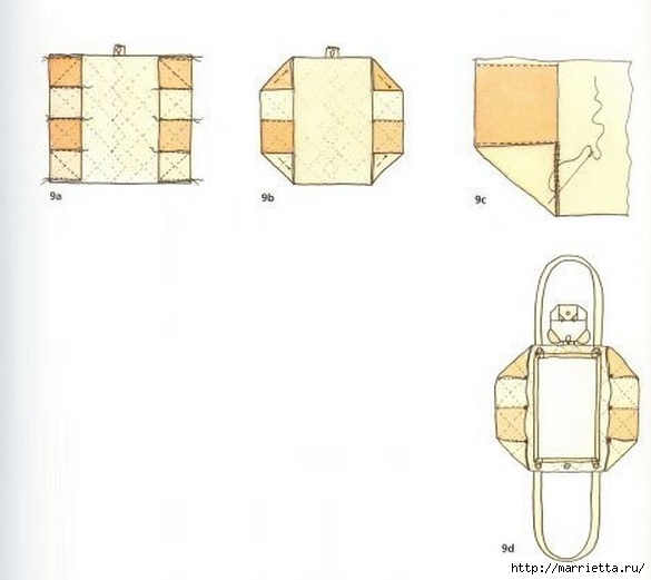 Пеленальный коврик - сумочка для малыша. Шьем сами (6) (585x521, 80Kb)