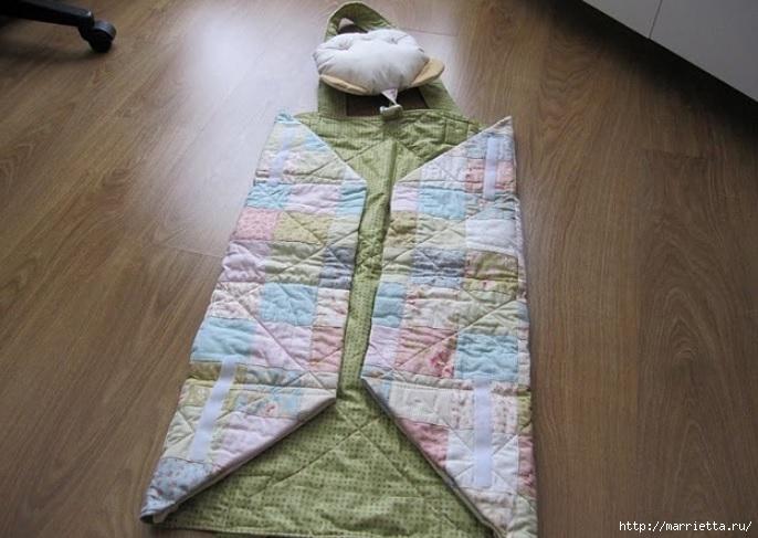 Пеленальный коврик - сумочка для малыша. Шьем сами (8) (686x487, 187Kb)