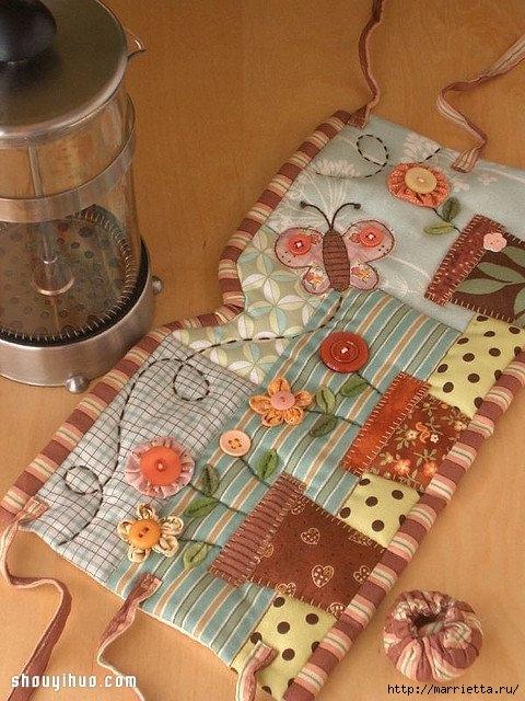 Лоскутное шитье. Красивая грелка для чайника (1) (480x640, 227Kb)