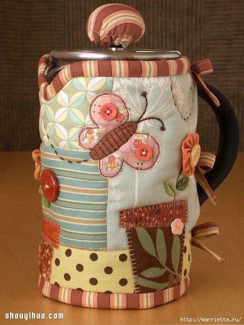 Лоскутное шитье. Красивая грелка для чайника (8) (480x640, 202Kb)