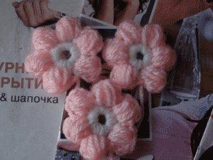Вязание крючком цветок из пышного столбика 51