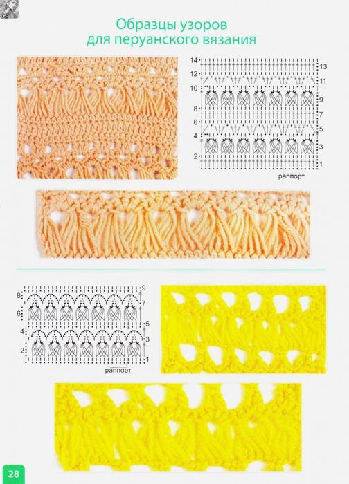 Перуанское вязание схемы крючком 48
