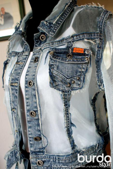 Как переделать джинсовую куртку своими руками