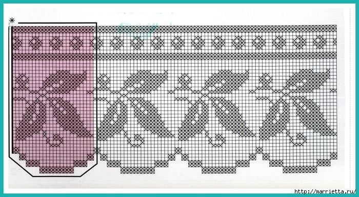 Кружевная кайма крючком. Схемы вязания (2) (700x385, 268Kb)