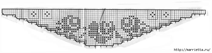 Кружевная кайма крючком. Схемы вязания (12) (700x175, 68Kb)