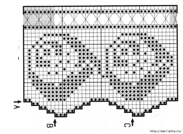 Кружевная кайма крючком. Схемы вязания (14) (700x514, 256Kb)