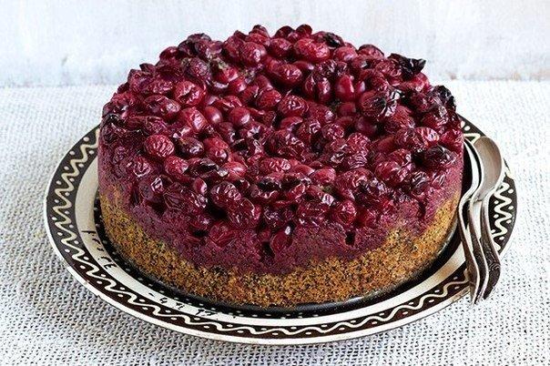 Маковый пирог с вишней (604x402, 96Kb)