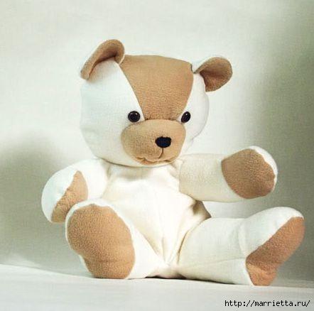 Как сшить плюшевого медведя. Выкройка и мастер-класс (21) (442x438, 70Kb)