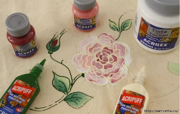 Украшаем кухонные полотенца росписью акриловыми красками (5) (631x401, 151Kb)